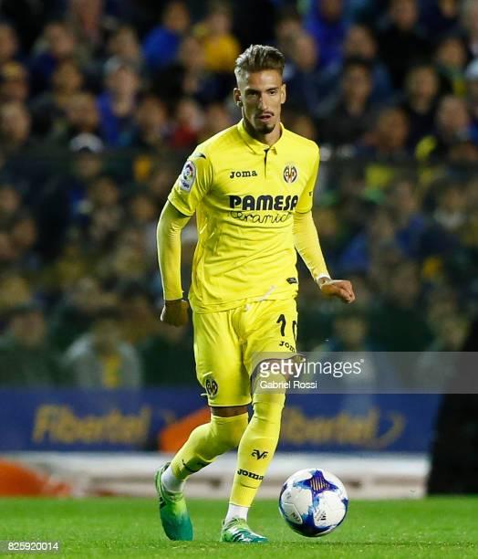 Samuel Castillejo of Villarreal CF drives the ball during the international friendly match between Boca Juniors and Villarreal CF at Alberto J...