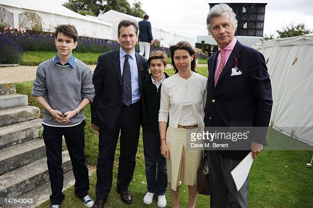 Samuel Chatto Daniel Chatto Arthur Chatto Lady Sarah Chatto and Arnaud Bamberger attend the Cartier Style Luxury Lunch at the Goodwood Festival of...