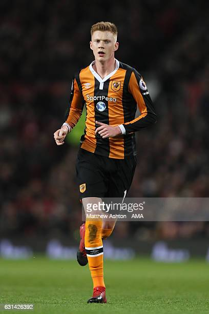 Samuel Clucas of Hull City in action during the EFL Cup SemiFinal first leg match between Manchester United and Hull City at Old Trafford on January...