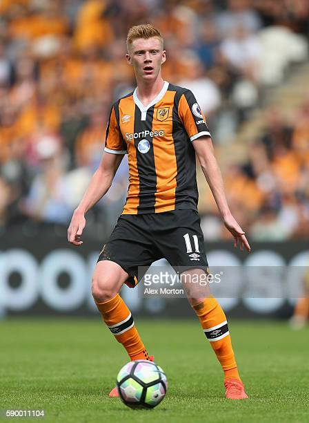 Samuel Clucas of Hull during the Premier League match between Hull City and Leicester City at KC Stadium on August 13 2016 in Hull England