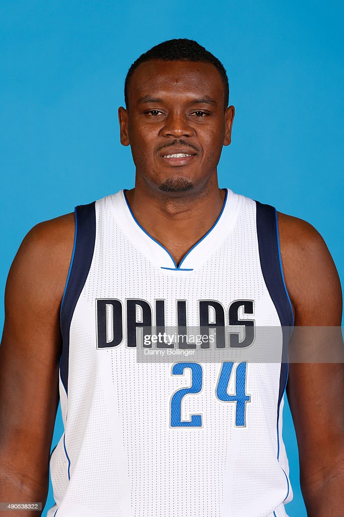 Samuel Dalembert of the Dallas Mavericks poses for a head shot during Media Day on September 28 2015 at the American Airlines Center in Dallas Texas...