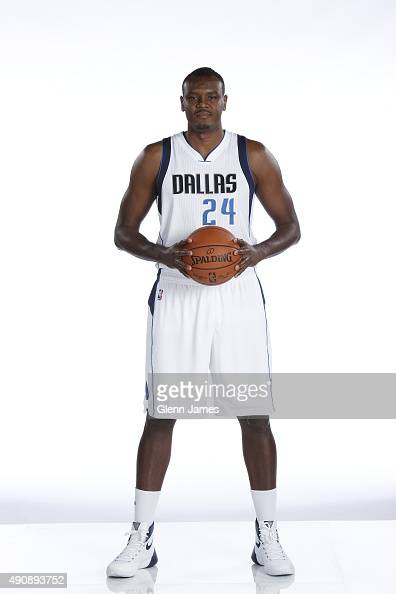 Samuel Dalembert of the Dallas Mavericks poses for a photo during media day on September 28 2015 at the American Airlines Center in Dallas Texas NOTE...
