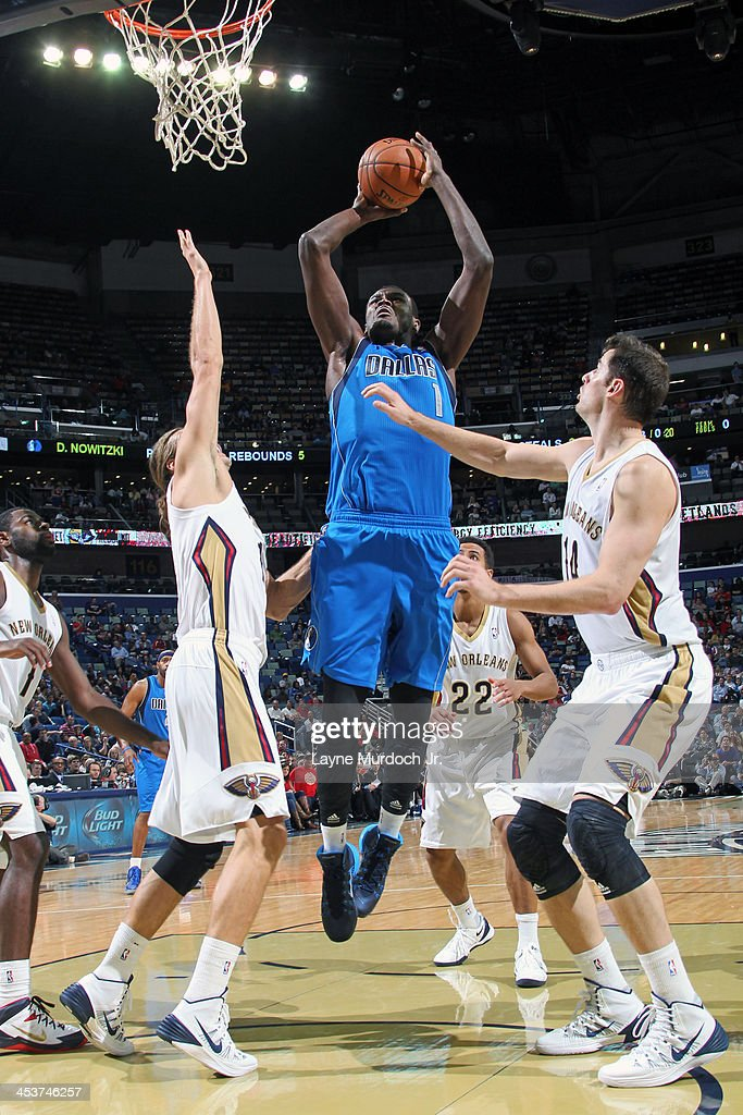 <a gi-track='captionPersonalityLinkClicked' href=/galleries/search?phrase=Samuel+Dalembert&family=editorial&specificpeople=202026 ng-click='$event.stopPropagation()'>Samuel Dalembert</a> #1 of the Dallas Mavericks shoots against the New Orleans Pelicans on December 4, 2013 at the New Orleans Arena in New Orleans, Louisiana.