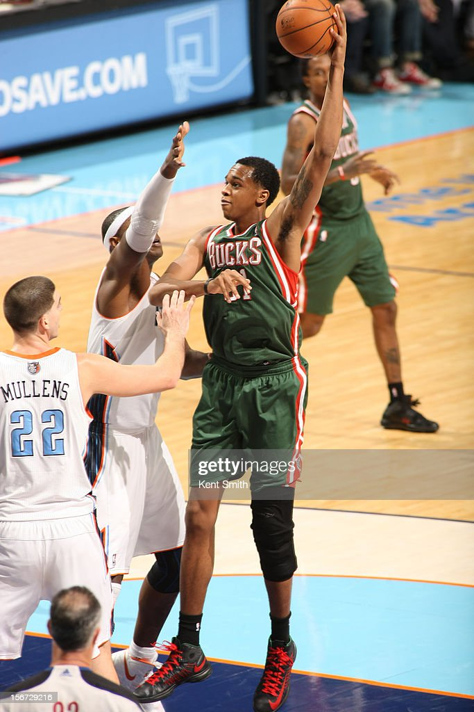 <a gi-track='captionPersonalityLinkClicked' href=/galleries/search?phrase=Samuel+Dalembert&family=editorial&specificpeople=202026 ng-click='$event.stopPropagation()'>Samuel Dalembert</a> #21 of the Milwaukee Bucks shoots against the Charlotte Bobcats at the Time Warner Cable Arena on November 19, 2012 in Charlotte, North Carolina.