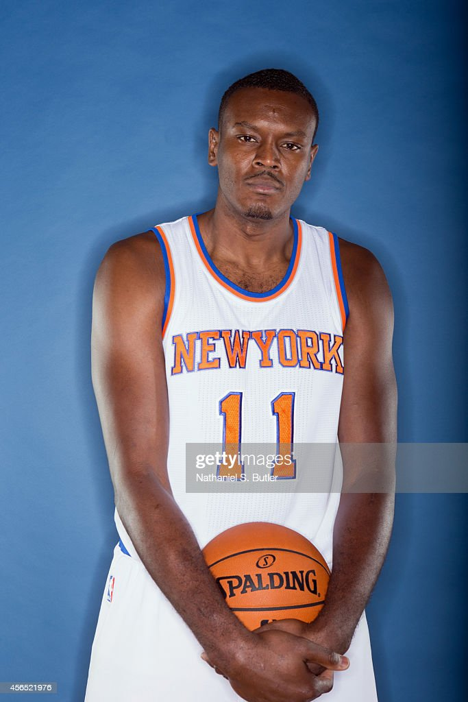 Samuel Dalembert of the New York Knicks poses for a photo during Media Day in New York New York NOTE TO USER User expressly acknowledges and agrees...