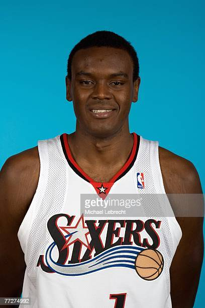 Samuel Dalembert of the Philadelphia 76ers poses for a portrait during NBA Media Day on October 1 2007 in Philadelphia Pennsylvania NOTE TO USER User...