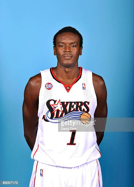 Samuel Dalembert of the Philadelphia 76ers poses for a portrait during NBA Media Day on September 29 2008 at the Wachovia Center in Philadelphia...