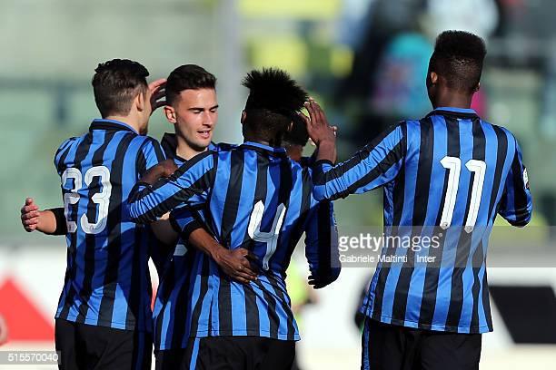 Samuel Darko Appiah of FC Internazionale celebrates after scoring a goal during the Viareggio Juvenile Tournament match between FC Internazionale and...