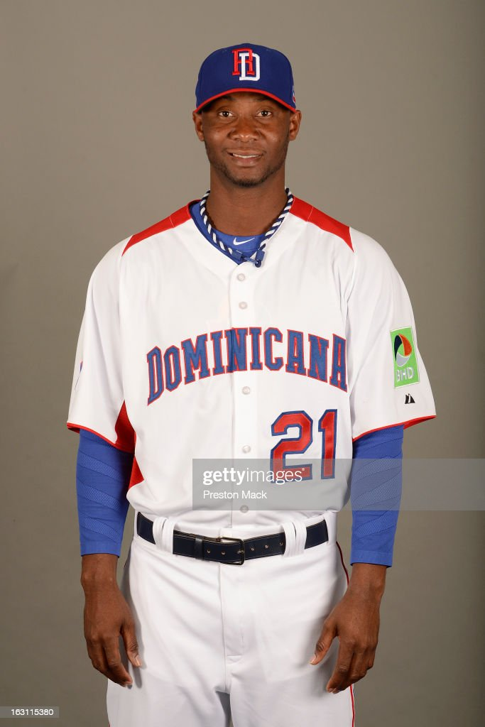 Samuel Deduno #21 of Team Dominican Republic poses for a headshot for the 2013 World Baseball Classic on March 4, 2013 at George M. Steinbrenner Field in Tampa, Florida.