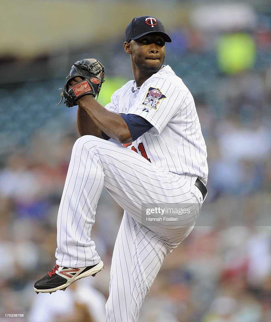 Samuel Deduno #21 of the Minnesota Twins delivers a pitch against the Houston Astros during the first inning of the game on August 2, 2013 at Target Field in Minneapolis, Minnesota.