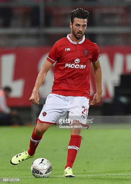 Samuel Di Carmine of Perugia in action during the preseason friendly match between AC Perugia and Carpi FC at Stadio Renato Curi on August 1 2015 in...