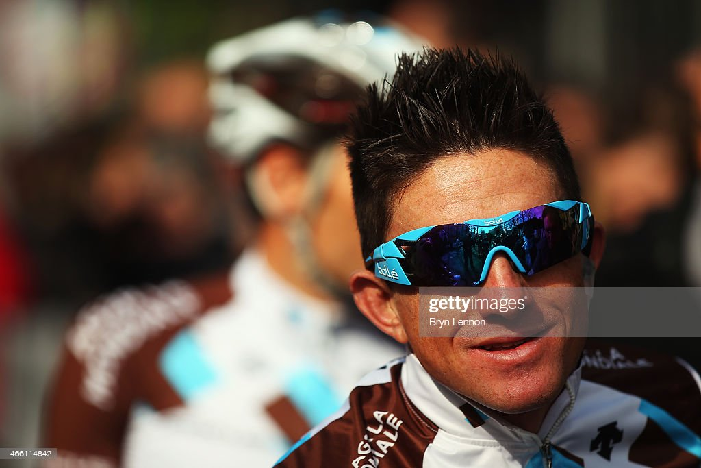 <a gi-track='captionPersonalityLinkClicked' href=/galleries/search?phrase=Samuel+Dumoulin&family=editorial&specificpeople=760365 ng-click='$event.stopPropagation()'>Samuel Dumoulin</a> of France and AG2R La Mondiale looks on at the start of during stage five of the 2015 Paris-Nice from Saint-Etienne to Rasteau on March 13, 2015 in Saint-Etienne, France.