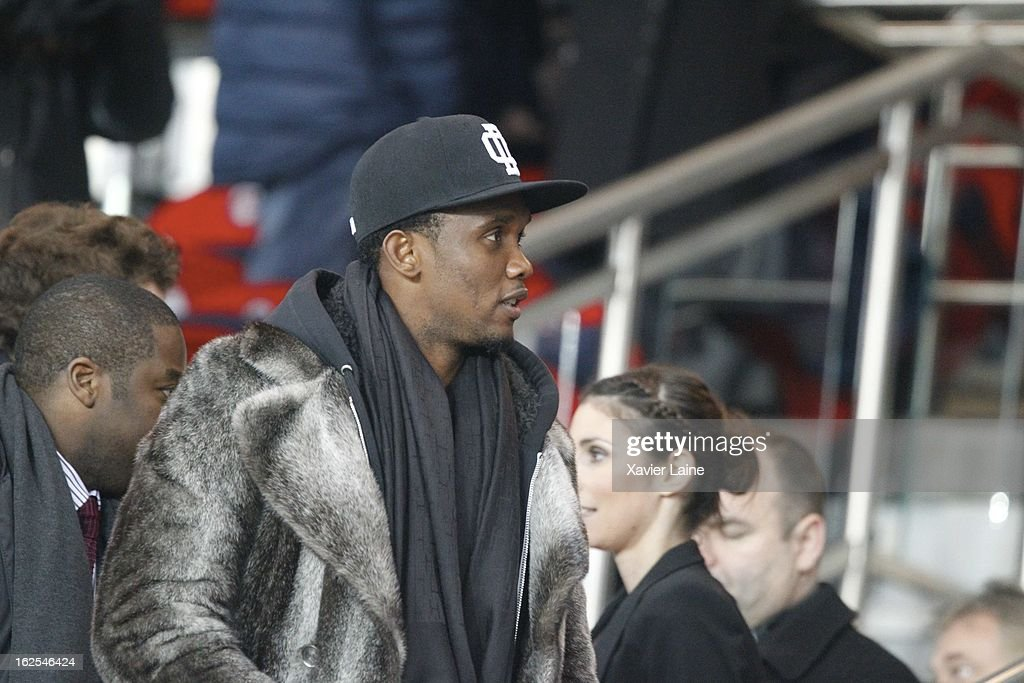 <a gi-track='captionPersonalityLinkClicked' href=/galleries/search?phrase=Samuel+Eto%27o&family=editorial&specificpeople=210530 ng-click='$event.stopPropagation()'>Samuel Eto'o</a> attends before the French League 1 between Paris Saint-Germain FC and Marseille Olympic OM, at Parc des Princes on February 24, 2013 in Paris, France.