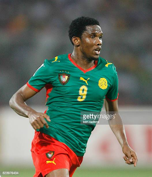 Samuel Eto'o of Cameroon during the Group C African Cup of Nations 2008 match between Egypt and Cameroon at the Baba Yara Stadium in Kumasi Ghana...