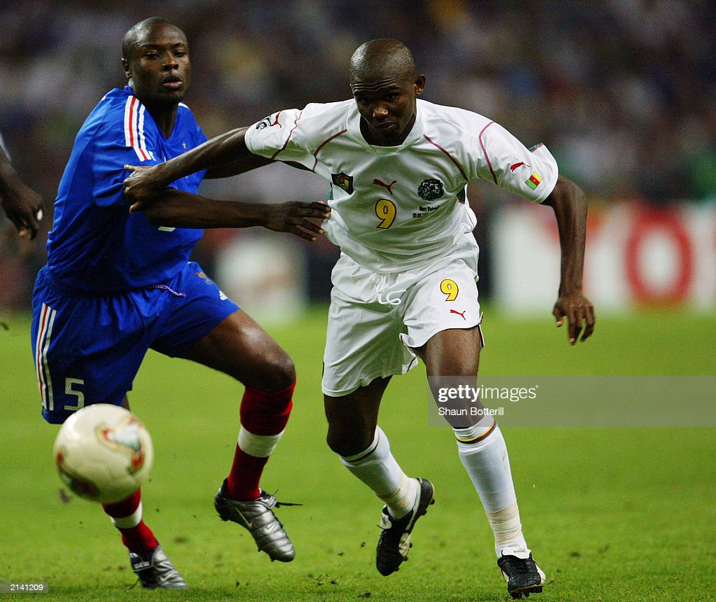 Samuel Eto o of Cameroon and William Gallas of France