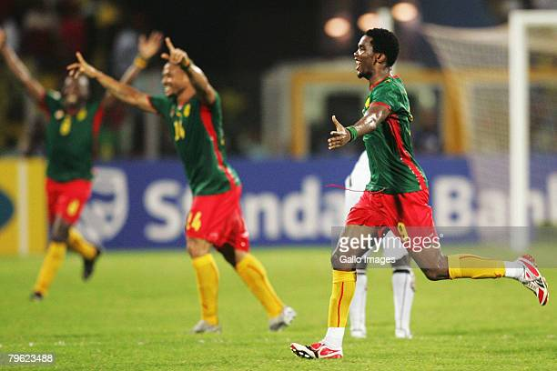 Samuel Eto'o of Cameroonduring of the AFCON semifinal match between Ghana and Cameroon held at the Ohene Djan Stadium February 7 2008 in Accra Ghana