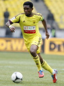 Samuel Eto'o of FC Anzhi Makhachkala in action during the Russian Premier League match between FC Spartak Moscow and FC Anzhi Makhachkala at the...