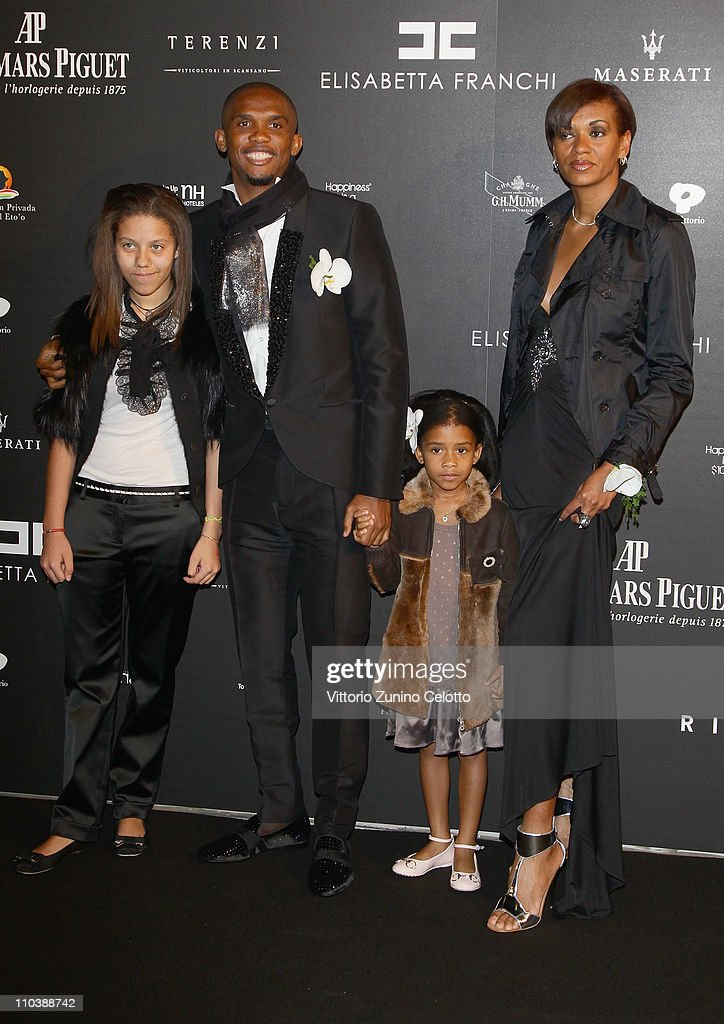 <a gi-track='captionPersonalityLinkClicked' href=/galleries/search?phrase=Samuel+Eto%27o&family=editorial&specificpeople=210530 ng-click='$event.stopPropagation()'>Samuel Eto'o</a>, wife Georgette and their daughters attend the 'Fundaction Privada <a gi-track='captionPersonalityLinkClicked' href=/galleries/search?phrase=Samuel+Eto%27o&family=editorial&specificpeople=210530 ng-click='$event.stopPropagation()'>Samuel Eto'o</a>' Charity Event Red Carpet on March 17, 2011 in Milan, Italy.