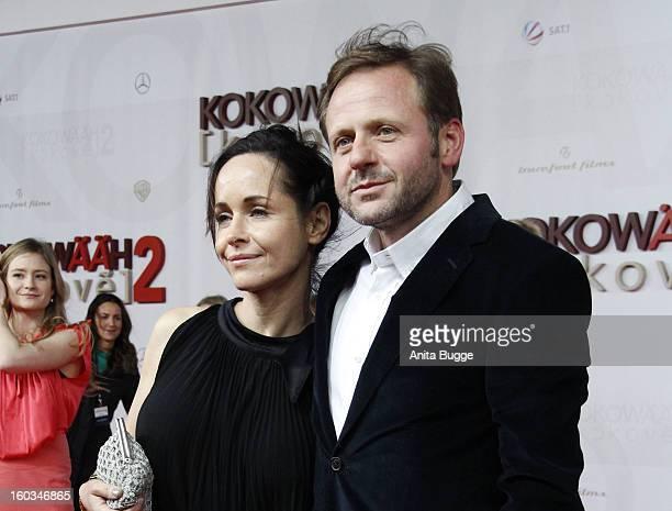 Samuel Finzi and wife attend 'Kokowaeaeh 2' Germany Premiere at Cinestar Potsdamer Platz on January 29 2013 in Berlin Germany
