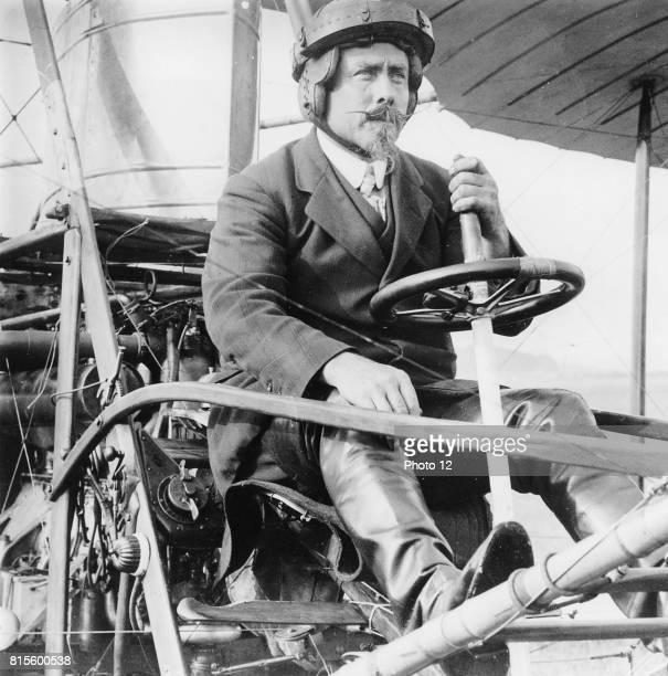 Samuel Franklin Cody in his biplane Americanborn British aviator OP