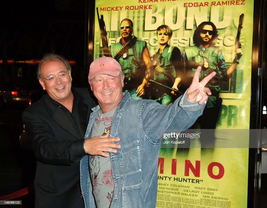 Samuel Hadida producer and Tony Scott director during New Line Cinema's 'Domino' Los Angeles Premiere Arrivals at Grauman's Chinese Theater in...