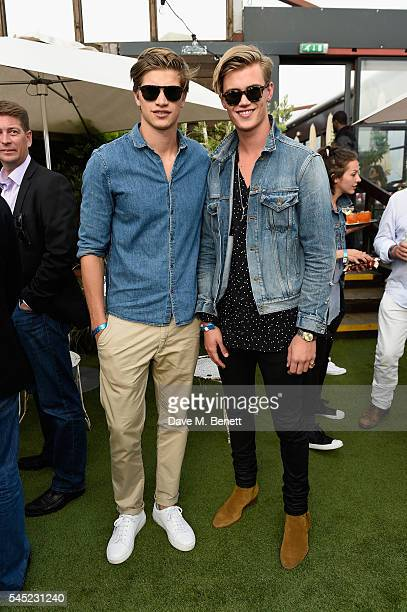 Samuel Harwood and Toby HuntingtonWhiteley attend Warner Music Group Summer party in association with British GQ and Quintessentially on July 6 2016...
