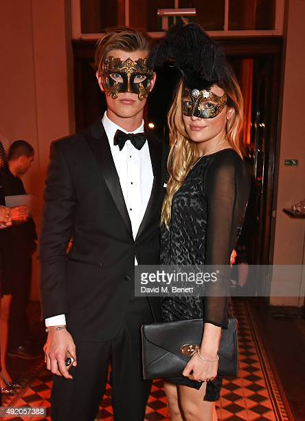 Samuel Harwood attends Eva Cavalli's birthday dinner party at One Mayfair on October 9 2015 in London England