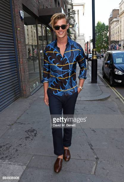 Samuel Harwood attends the Aston Martin x Hogan London Fashion Week Men's Cocktail in partnership with GQ Style on June 11 2017 in London England