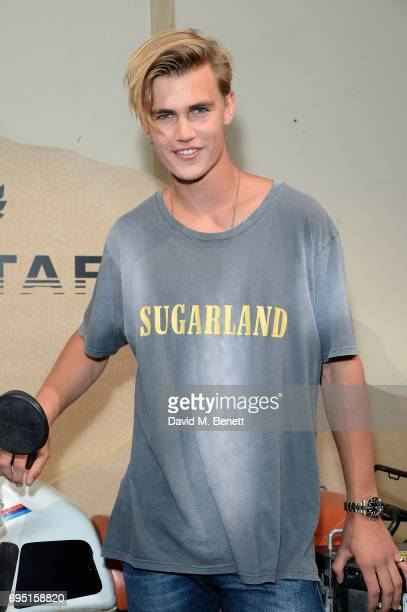 Samuel Harwood attends the Belstaff Presentation during the London Fashion Week Men's June 2017 collections on June 12 2017 in London England
