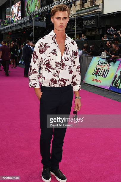 Samuel Harwood attends the European Premiere of 'Suicide Squad' at Odeon Leicester Square on August 3 2016 in London England