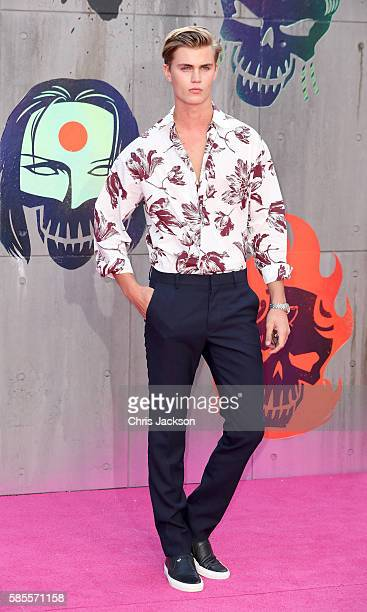 Samuel Harwood attends the European Premiere of 'Suicide Squad' at the Odeon Leicester Square on August 3 2016 in London England