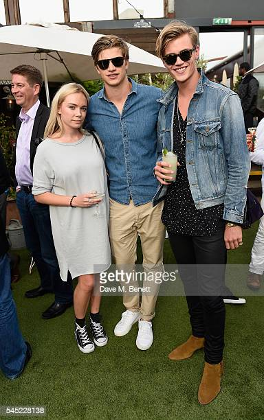 Samuel Harwood Toby HuntingtonWhiteley and guest attend Warner Music Group Summer party in association with British GQ and Quintessentially on July 6...