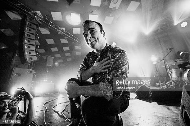 Samuel Herring of Future Islands performs at Barrowlands Ballroom on September 9 2015 in Glasgow Scotland