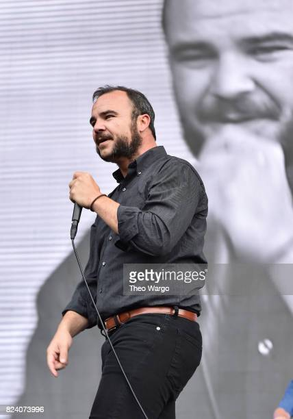 Samuel Herring of Future Islands performs onstage during the 2017 Panorama Music Festival at Randall's Island on July 28 2017 in New York City