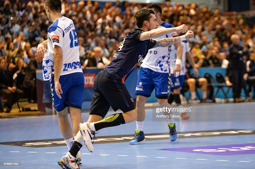 Samuel Honrubia of PSG during the EHB Handball Champions League match, second Leg, Round of 8, between Paris Saint Germain and HC Zagreb on May 1, 2016 in Paris, France.