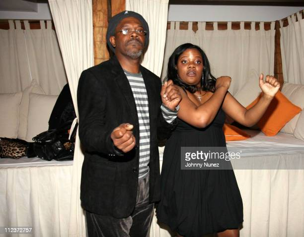 Samuel Jackson and Zoe Jackson during Zoe Jackson 25th Birthday Party April 6 2007 at Nikki Beach in New York City New York US Outlying Islands