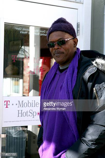 Samuel Jackson during 2007 Park City TMobile Cafe at Village at the Lift Day 7 at TMobile Cafe in Park City Utah United States