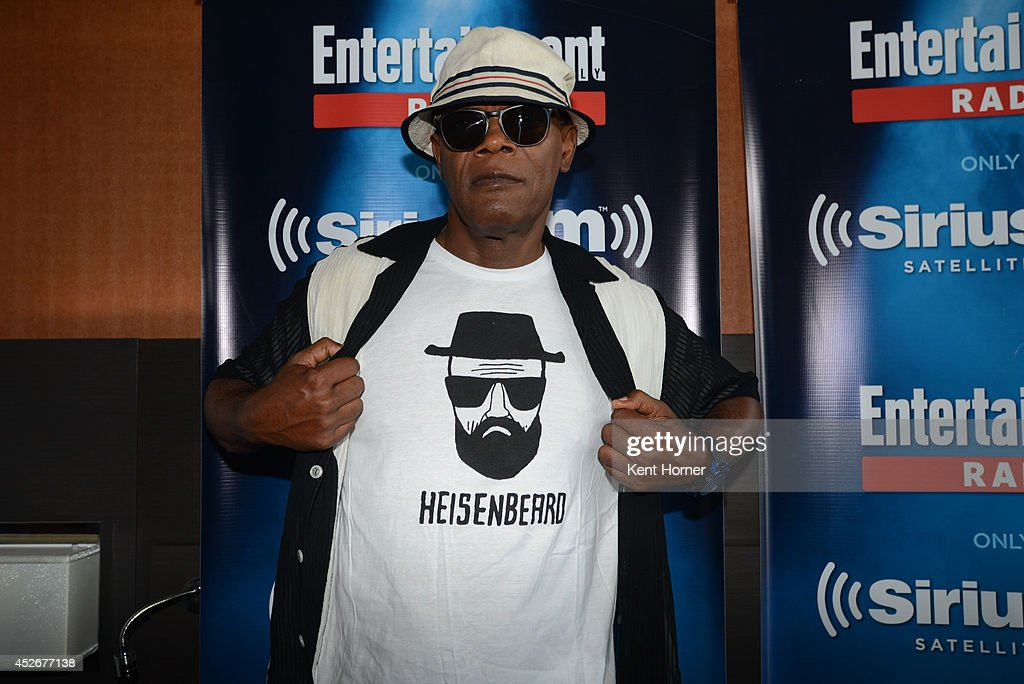 Samuel Jackson poses after being interviewed on SiriusXM's Entertainment Weekly Radio channel from Comic-Con 2014 at The Hard Rock Hotel on July 25, 2014 in San Diego, California.