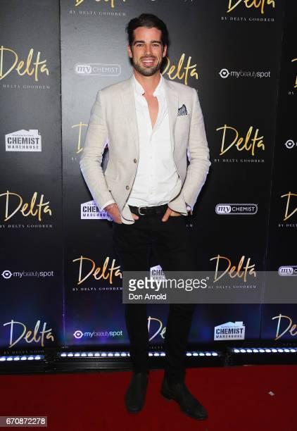 Samuel Johnson poses at the launch of Delta by Delta Goodrem on April 20 2017 in Sydney Australia