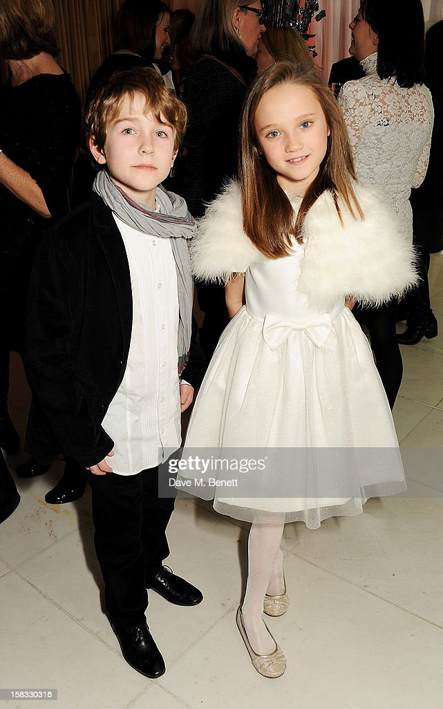 Samuel Joslin (L) and Isabelle Allen attend the English National Ballet Christmas Party at St Martins Lane Hotel on December 13, 2012 in London, England.
