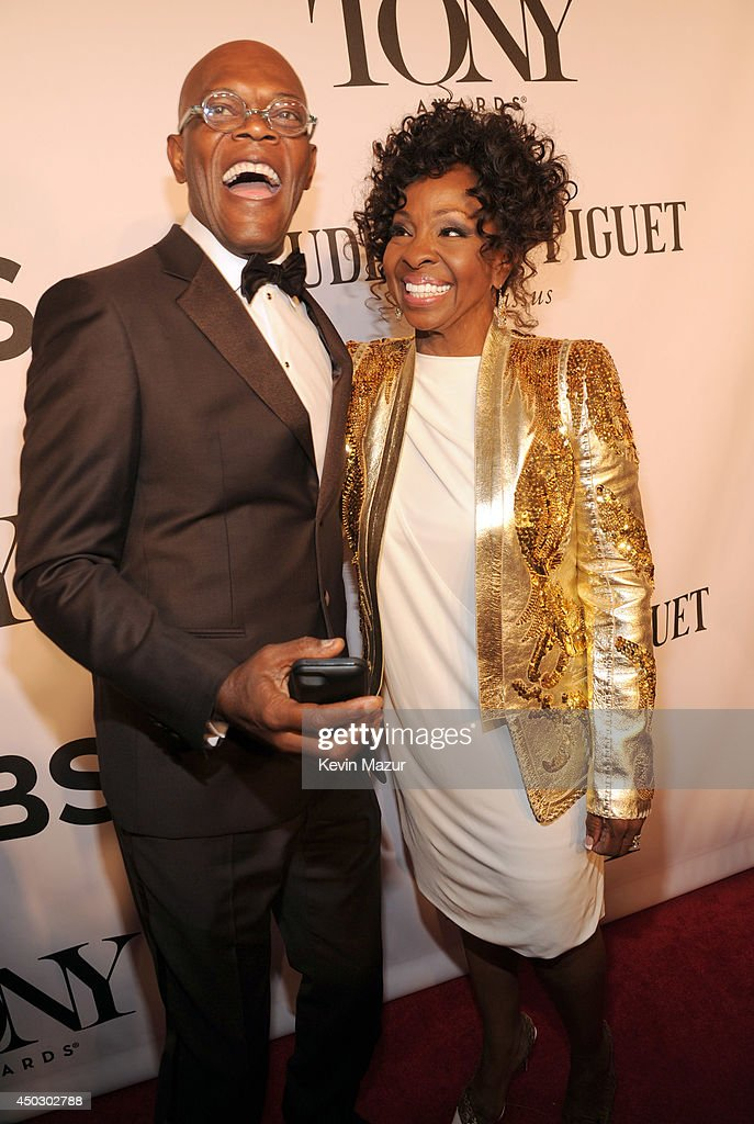 <a gi-track='captionPersonalityLinkClicked' href=/galleries/search?phrase=Samuel+L.+Jackson&family=editorial&specificpeople=167234 ng-click='$event.stopPropagation()'>Samuel L. Jackson</a> and <a gi-track='captionPersonalityLinkClicked' href=/galleries/search?phrase=Gladys+Knight&family=editorial&specificpeople=169894 ng-click='$event.stopPropagation()'>Gladys Knight</a> attend the 68th Annual Tony Awards at Radio City Music Hall on June 8, 2014 in New York City.