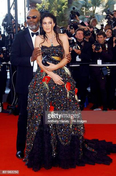 Samuel L Jackson and Monica Bellucci arrive for the premiere of Marie Antoinette at the Palais des Festival during the 59th Cannes film Festival in...