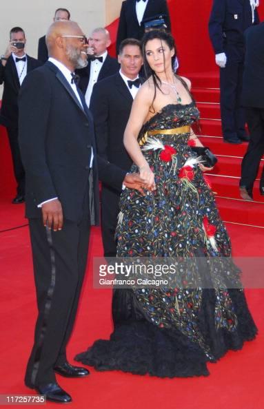 Samuel L Jackson and Monica Bellucci during 2006 Cannes Film Festival Marie Antoinette Premiere at Palais des Festival in Cannes France
