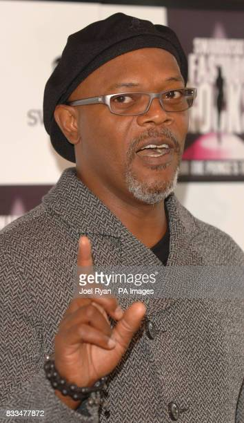 Samuel L Jackson announces his cohost and artists at a press conference for the forthcoming Swarovski Fashion Rocks event at the Intercontinental...