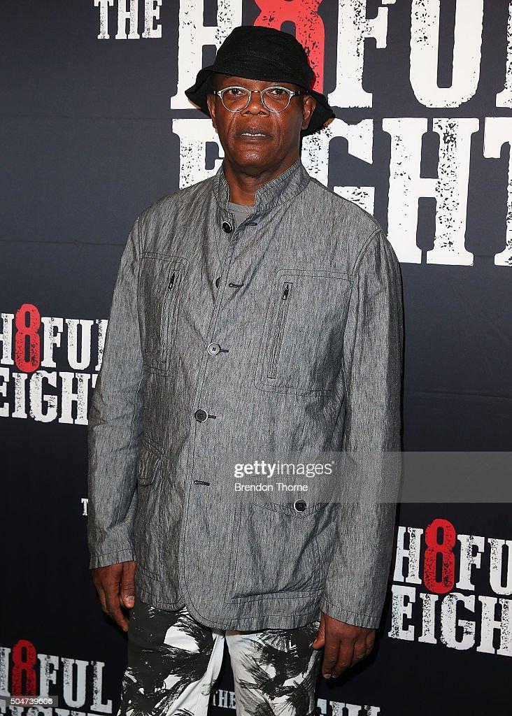 Samuel L. Jackson arrives ahead of the Australian premiere of The Hateful Eight at Event Cinemas George Street on January 13, 2016 in Sydney, Australia.