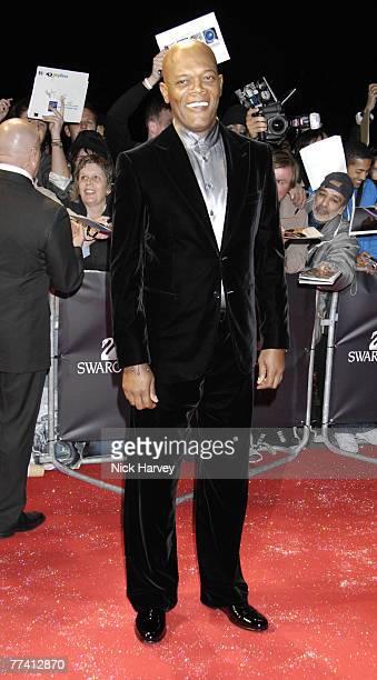 Samuel L Jackson arrives at Swarovski Fashion Rocks 2007 on October 18 2007 at the Royal Albert Hall in London England