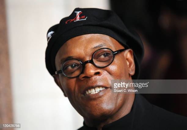 Samuel L Jackson arrives at the FitFlop Shooting Stars Benefit closing ball at the Royal Courts of Justice The event was hosted by Samuel L Jackson...