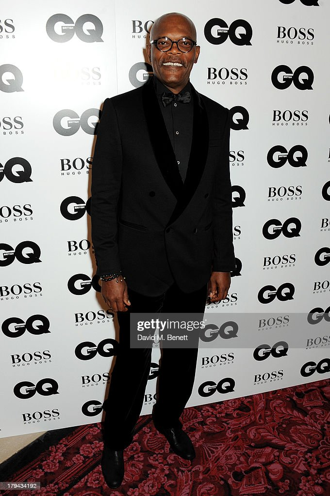 <a gi-track='captionPersonalityLinkClicked' href=/galleries/search?phrase=Samuel+L.+Jackson&family=editorial&specificpeople=167234 ng-click='$event.stopPropagation()'>Samuel L. Jackson</a> arrives at the GQ Men of the Year awards at The Royal Opera House on September 3, 2013 in London, England.