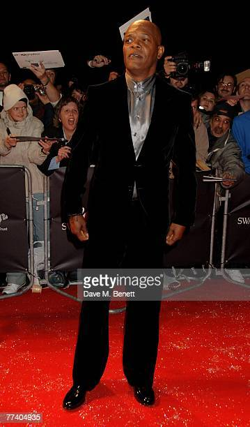Samuel L Jackson arrives at the Swarovski Fashion Rocks in aid of The Prince's Trust at the Royal Albert Hall on October 18 2007 in London England