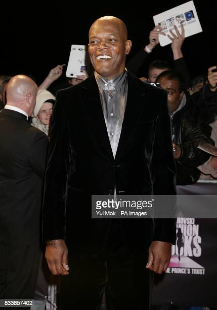 Samuel L Jackson arrives for Swarovski Fashion Rocks for The Prince's Trust at the Royal Albert Hall in central London